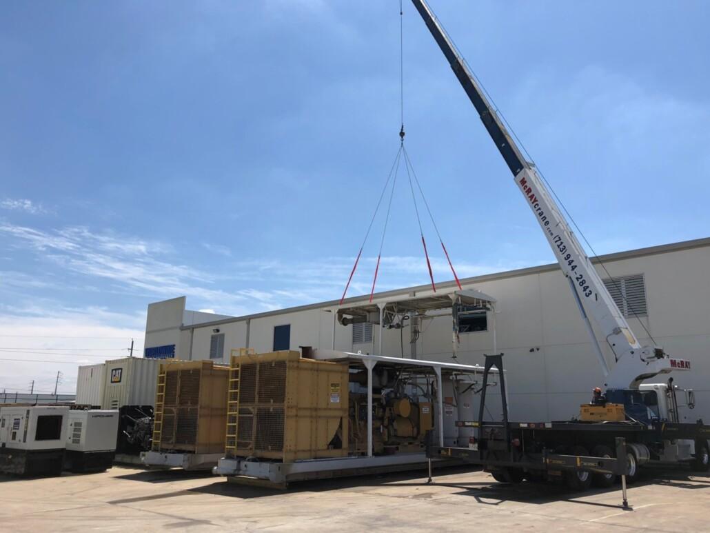 Cat 3512C Petroleum Generator Sets Crane Removal