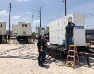 Generator load bank test by WPP technician