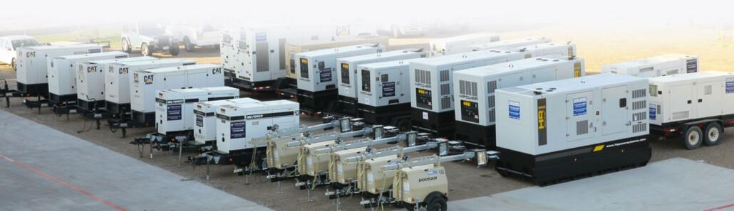 Generator rental fleet at Worldwide Power Products