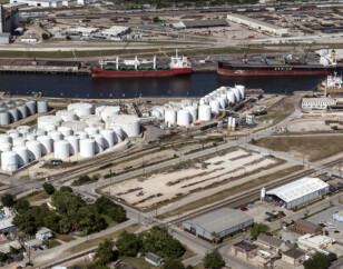 Energy facilities by the Houston Ship Channel