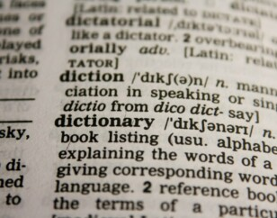 Glossary, dictionary
