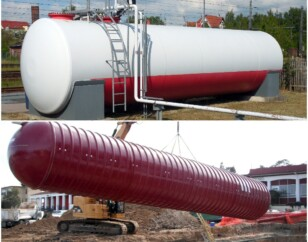 Above ground and underground storage tanks