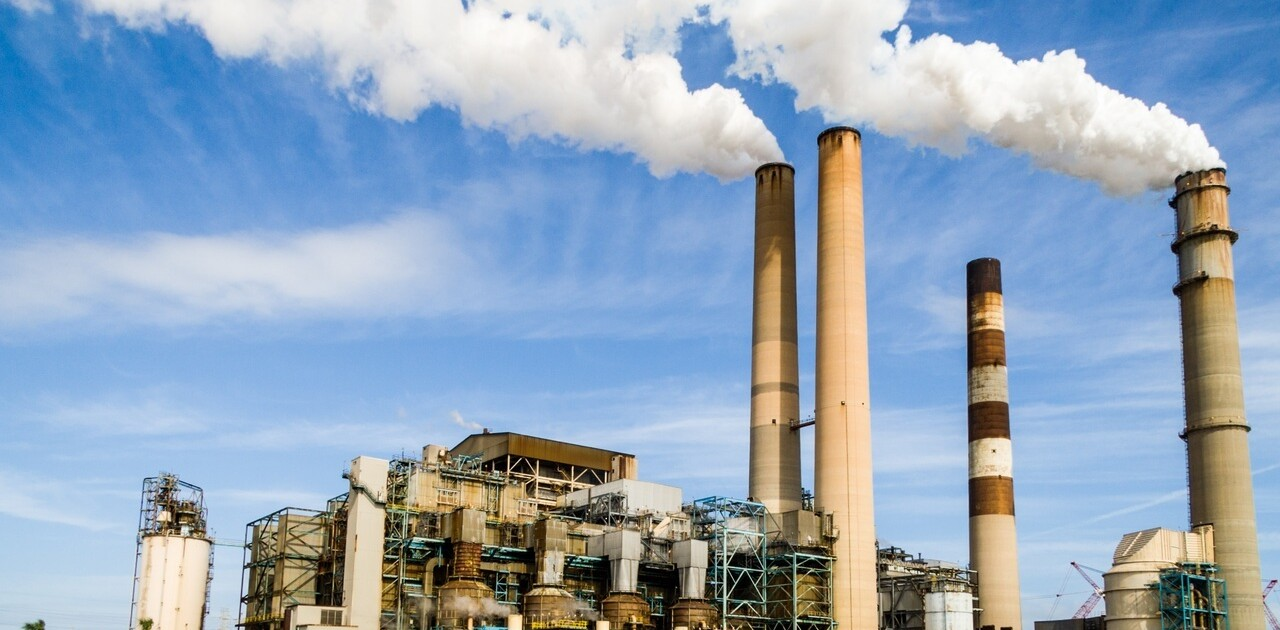 Fumes from factory polluting air