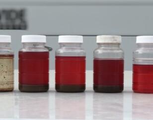 Diesel fuel polishing samples