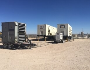 Two continuous CAT generators with enclosures placed outside