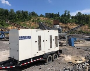 WPP-supplied prime generator powering construction site