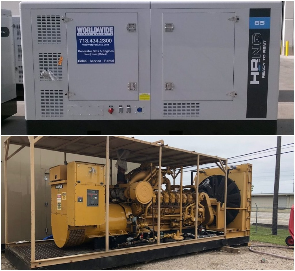Natural gas generator set and engine