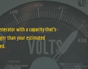 Generator sizing tip