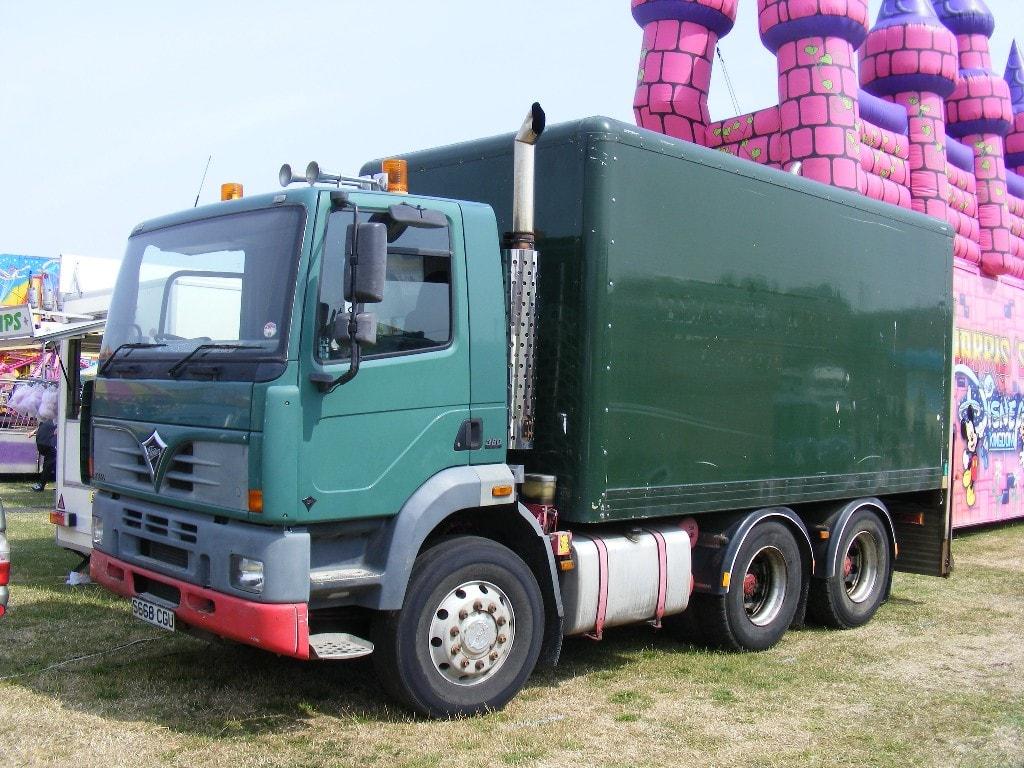Generator truck at fairgound