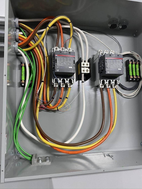 Remote generator monitoring contactors