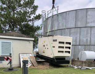 MUD 43 - Installing generator onto concrete pad