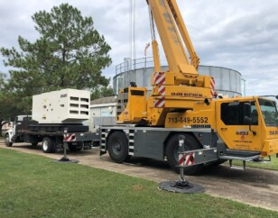 MUD 43 - Crane ready to pick up generator