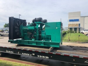 Generator on truck ready for delivery